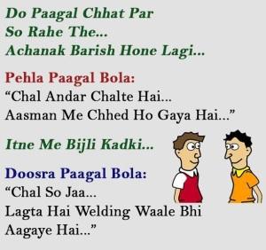 Hindi Funny Joke on Mads
